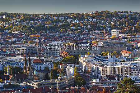 germany baden wurttemburg stuttgart elevated city