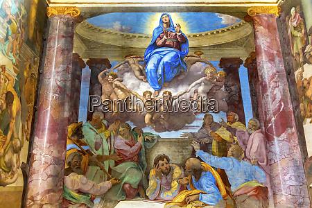 mary and angels fresco trinita dei