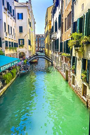 gondola and tourist venice italy