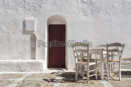 europe greece mykonos door table and
