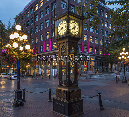 historic steam powered clock in the