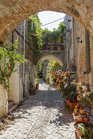 mesta town chios island greece