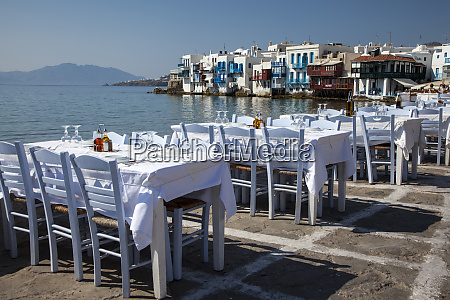 greece mykonos seaside dining