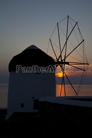 greece mykonos windmill