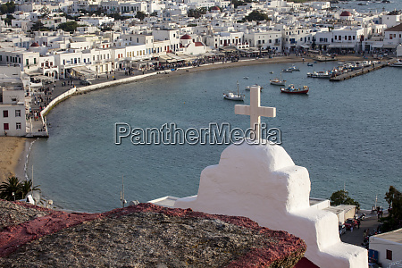 greece santorini overview of harbor