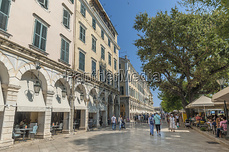 liston promenade corfu greece