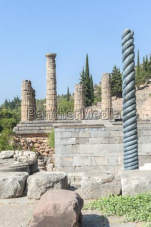 temple of apollo and tripod of