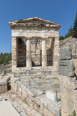 treasury of the athenians delphi greece