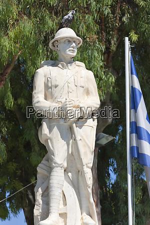 statue heraklion crete island greece