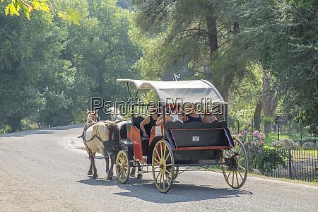 carriage ride olympia greece
