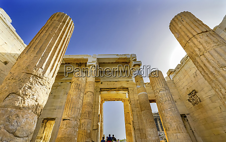 propylaea ancient entrance athens greece construction