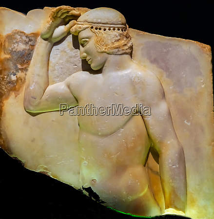 ancient athenian greek athletic youth statue