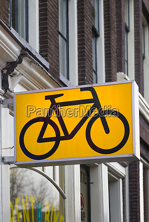 netherlands amsterdam bicycle sign