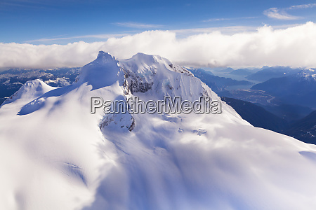 aerial view with mount garibaldi in