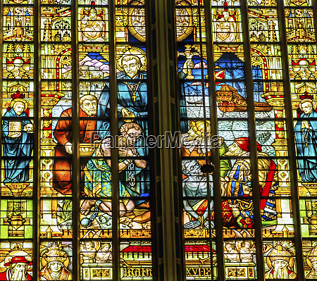 dutch priest slaves stained glass de