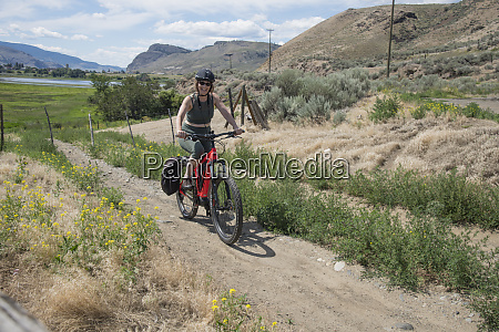 mountain biking on e bike in
