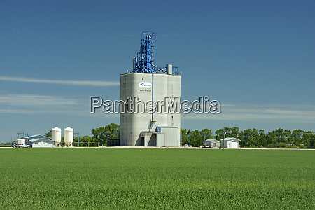 canada manitoba fannystelle grain elevator and