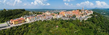 panoramic aerial view of labin city