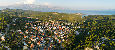 panoramic aerial view of selce cityscape