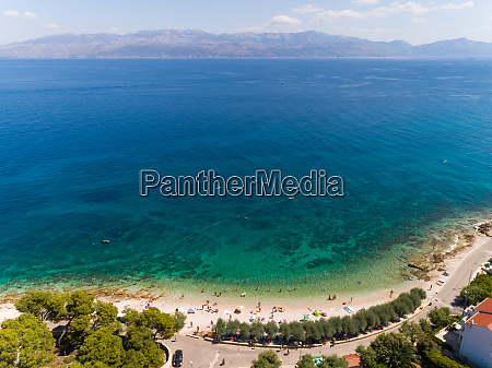 aerial view of beach majakovac at