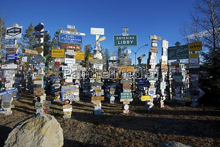 the yukons watson lake sign post
