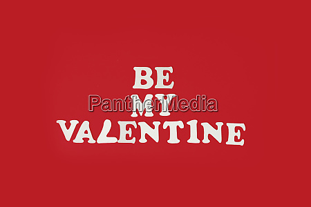 be my valentine phrase on red