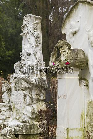 austria vienna zentralfriedhof central cemetery graves