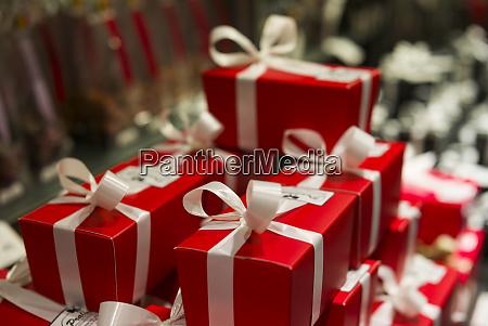 belgium bruges gift shop wrapped presents