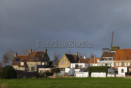 belgium damme village buildings