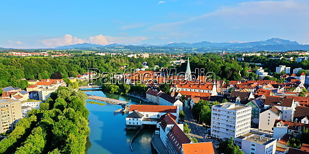 aerial view in kempten with a