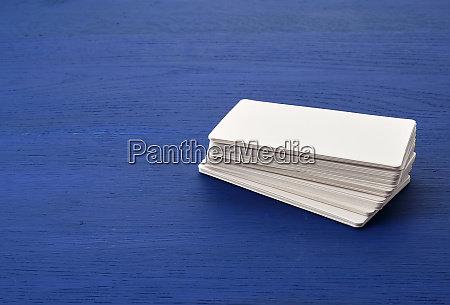 white blank paper rectangular business cards