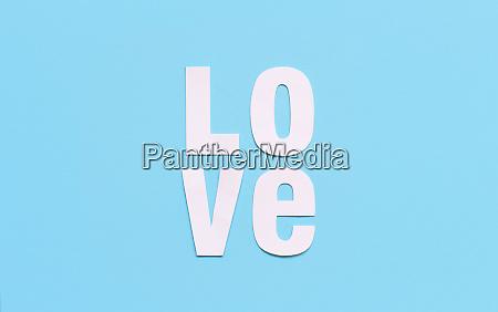 text love on a light blue
