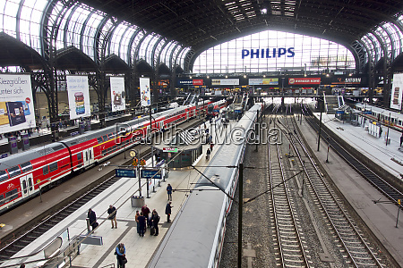 germany hamburg central station editorial use