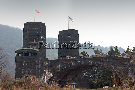 war monument ludendorff bridge in the