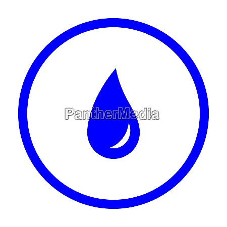water drop and circle