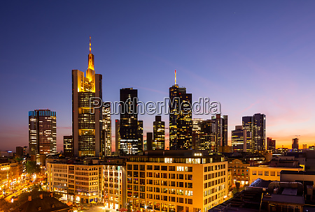 aerial view over over frankfurt at