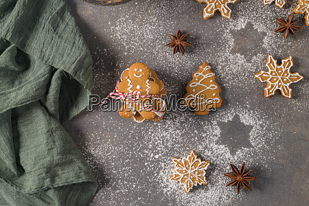 christmas cookies on kitchen countertop