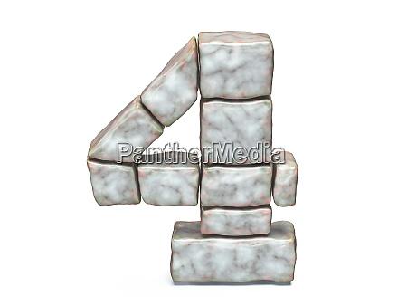 rock masonry font number 4 four