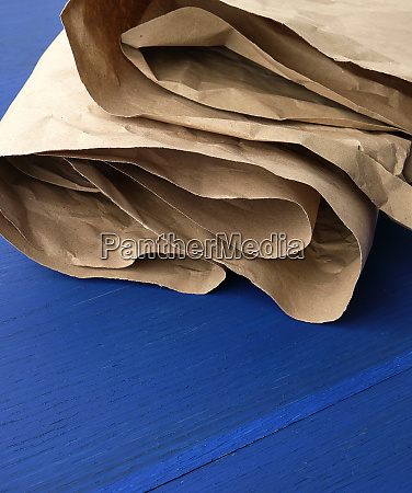 folded brown crumpled kraft paper sheet