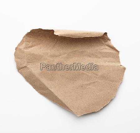 round piece of brown paper paper