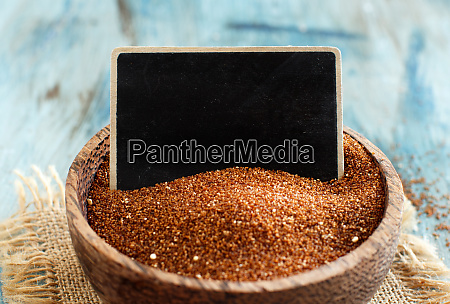 raw teff grain with a small