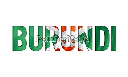 burundian flag text font