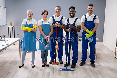 portrait of a janitors in the