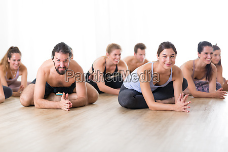 group of young sporty attractive people