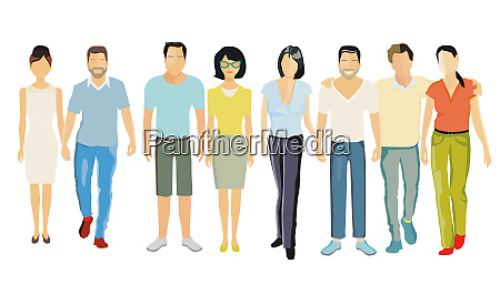 couples partnership parents adults illustration