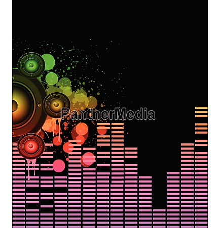 disco club flyer with colorful elements