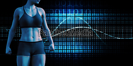 human body presentation background