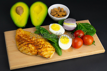ketogenic diet concept a set of
