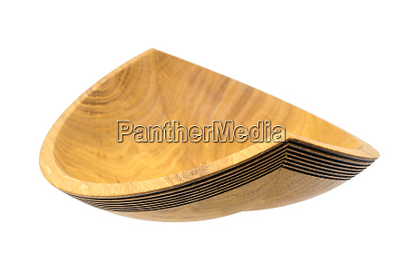 hand turned wooden bowl made of