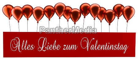 red balloons with the german words